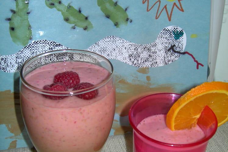 Milk-shake santé à la framboise