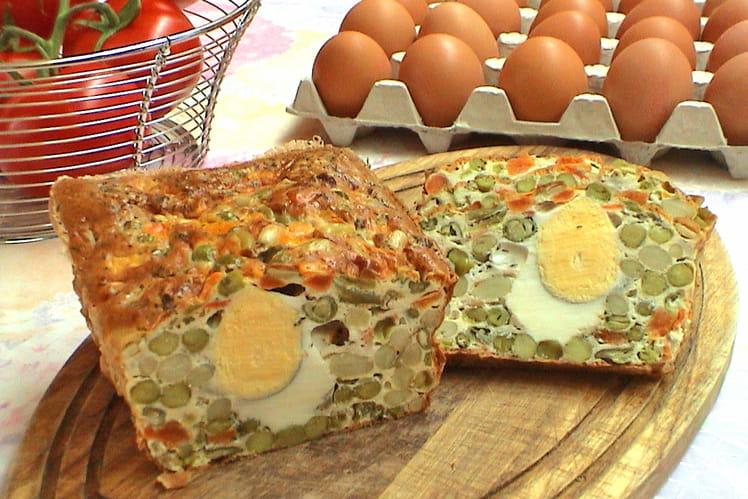 Pain de légumes aux œufs