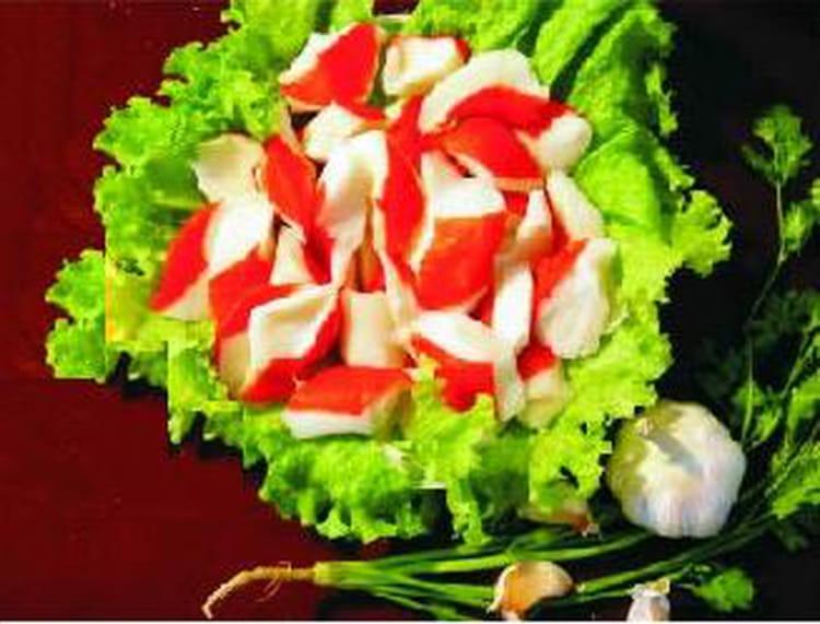 Recette de sushis de surimi pomme verte et saumon fum - Accompagnement salade verte ...