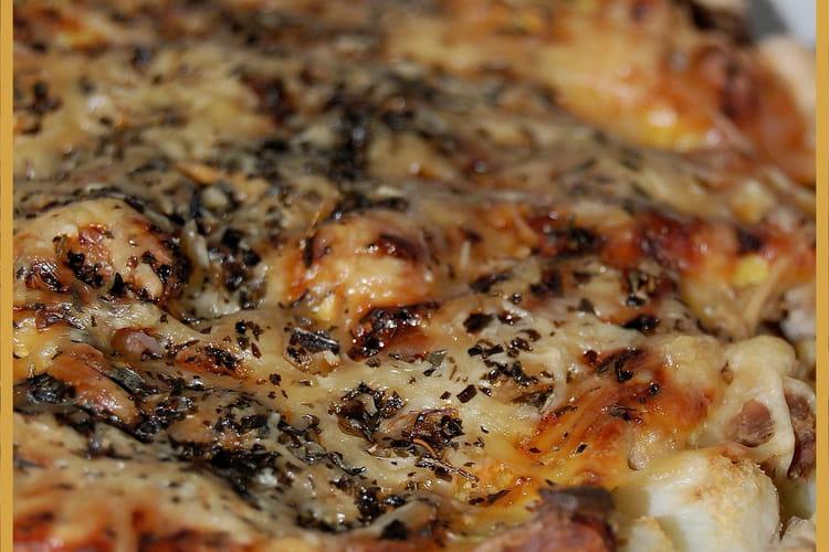 Tarte de choux-fleur aux crevettes et au thon
