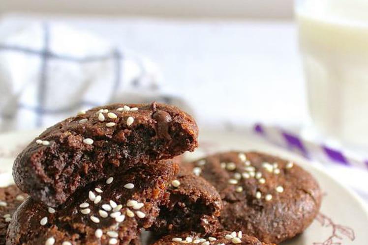 Cookies au cacao et tahini purée de sésame