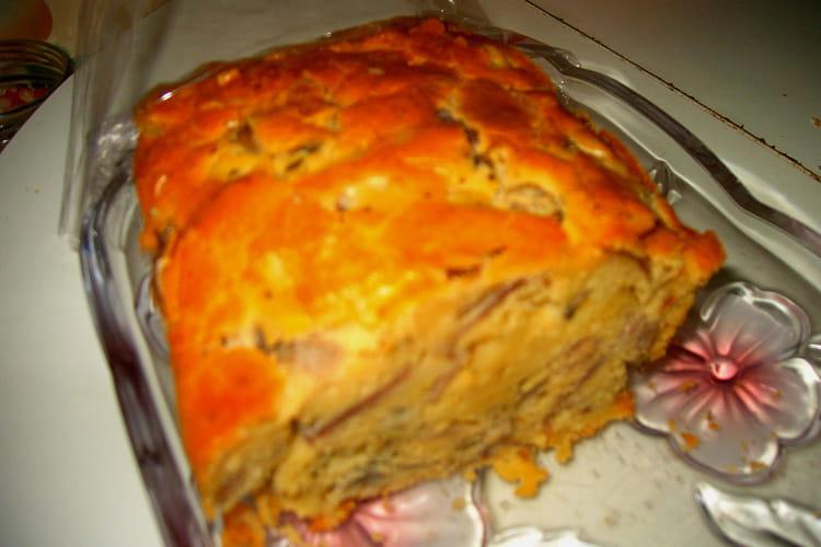 Cake au jambon, champignons et gruyère