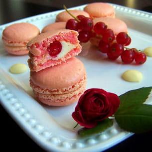 macarons à la rose