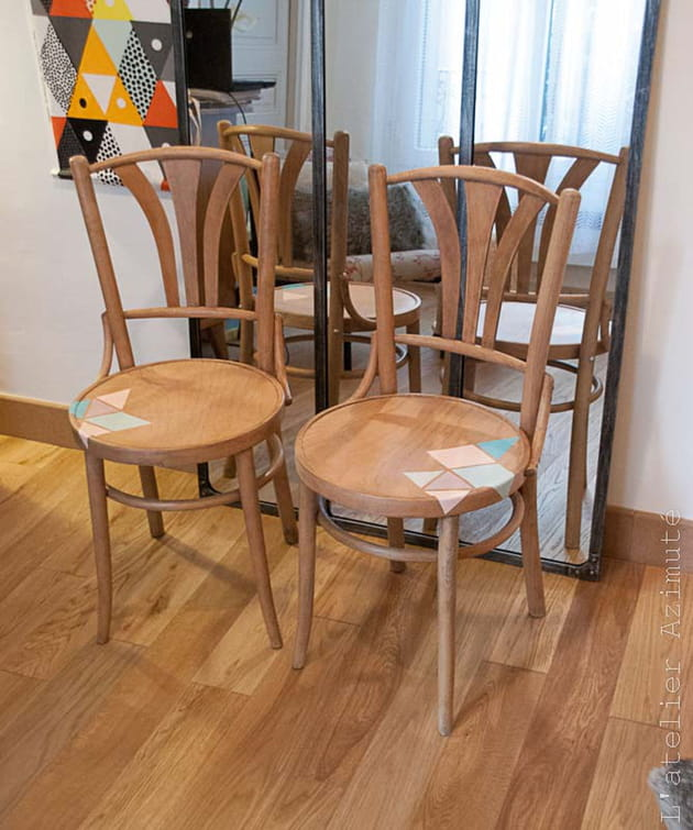 l atelier azimute chaises motifs pastel