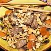 16nouilles sautees legumes boeuf cacahuetes