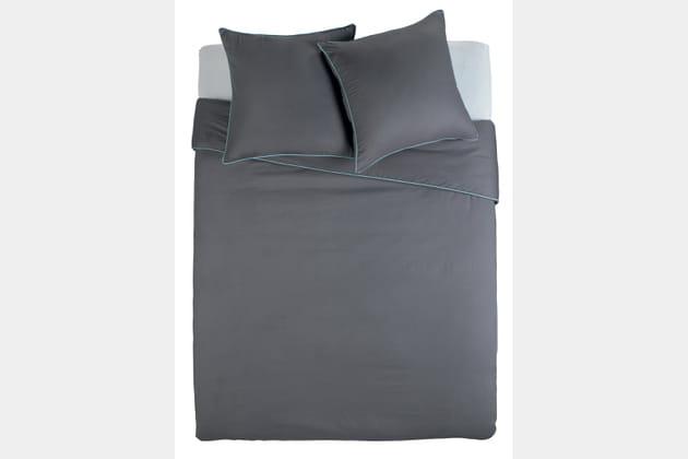 La parure de lit au détail fluo