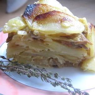 gâteau de pommes de terre aux cèpes