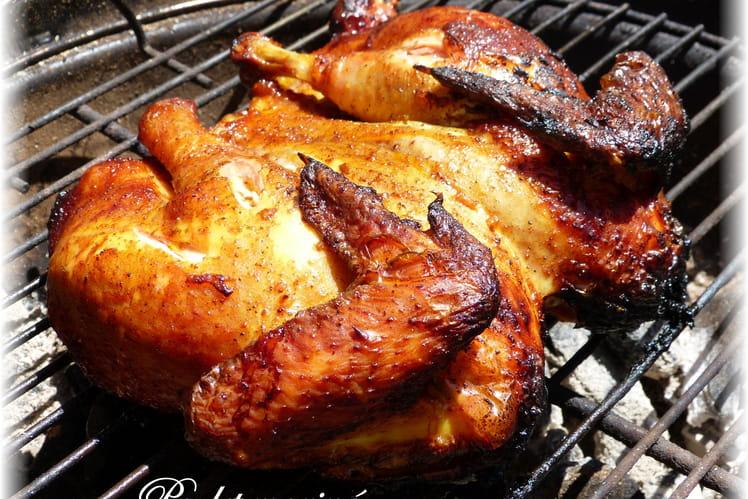 Poulet mariné au barbecue