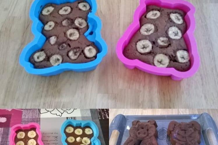 Gâteau rapide banana chocolat