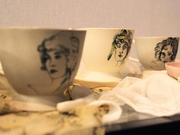 Tasses en porcelaine de Ceyda Bozkurt