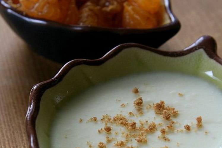 Panna cotta à la cannelle, mandarine et spéculoos