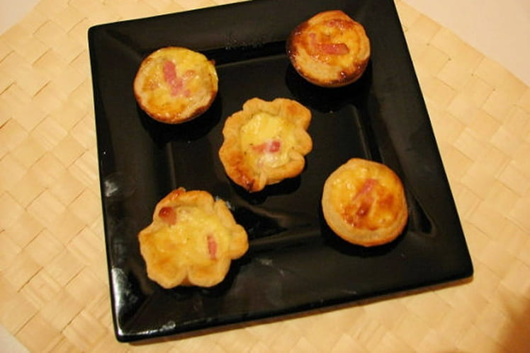 Mini quiches lardons parmesan