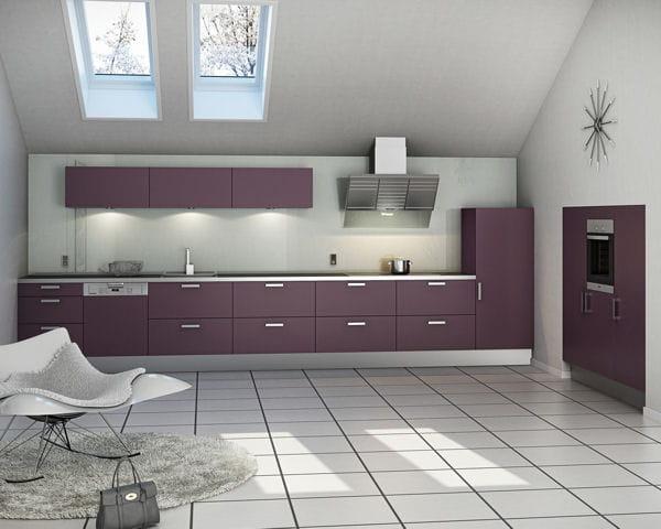 Prune Moderne - Meuble cuisine prune pour idees de deco de cuisine