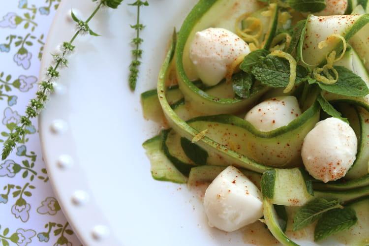 Salade de courgettes et mozzarella de Jamie