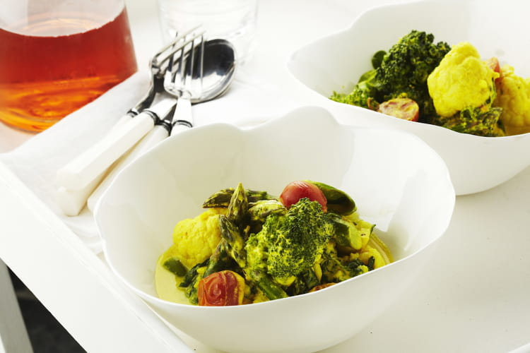 Curry de légumes au yaourt et au curcuma