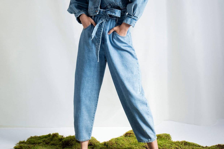 pantalon large cuisse femme resserre genous