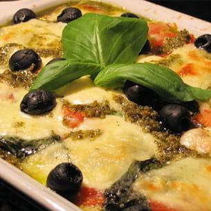lasagnes tomates mozzarella au pesto