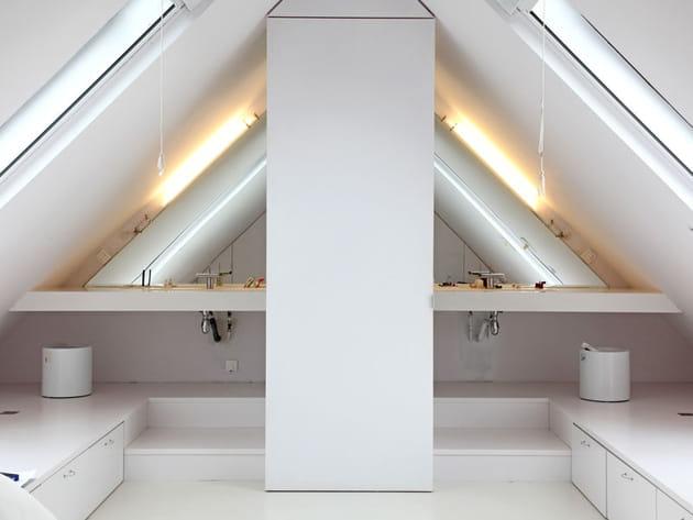 Salle de bains symétrique
