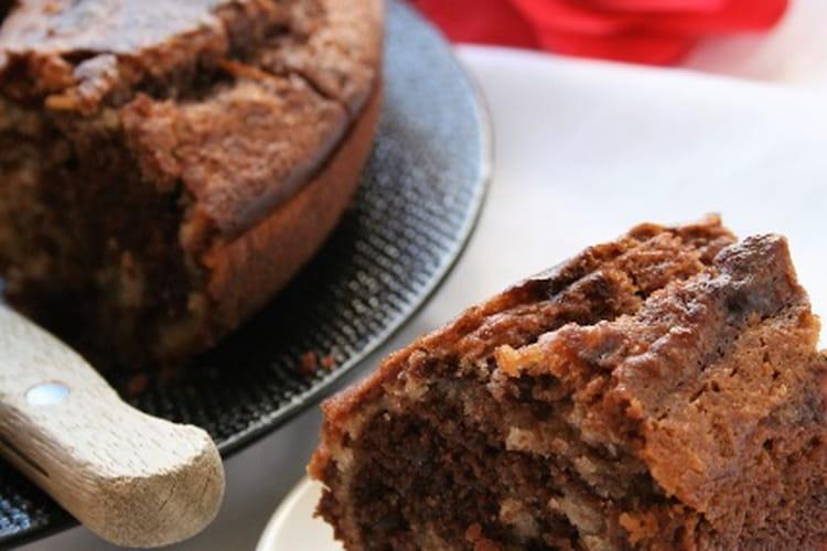 Gâteau marbré chocolat-orange, bio, sans gluten et sans oeufs