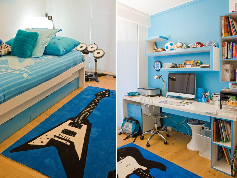 chambre bleue. Black Bedroom Furniture Sets. Home Design Ideas