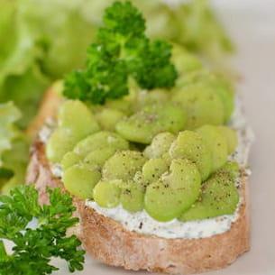 tartine aux fèves