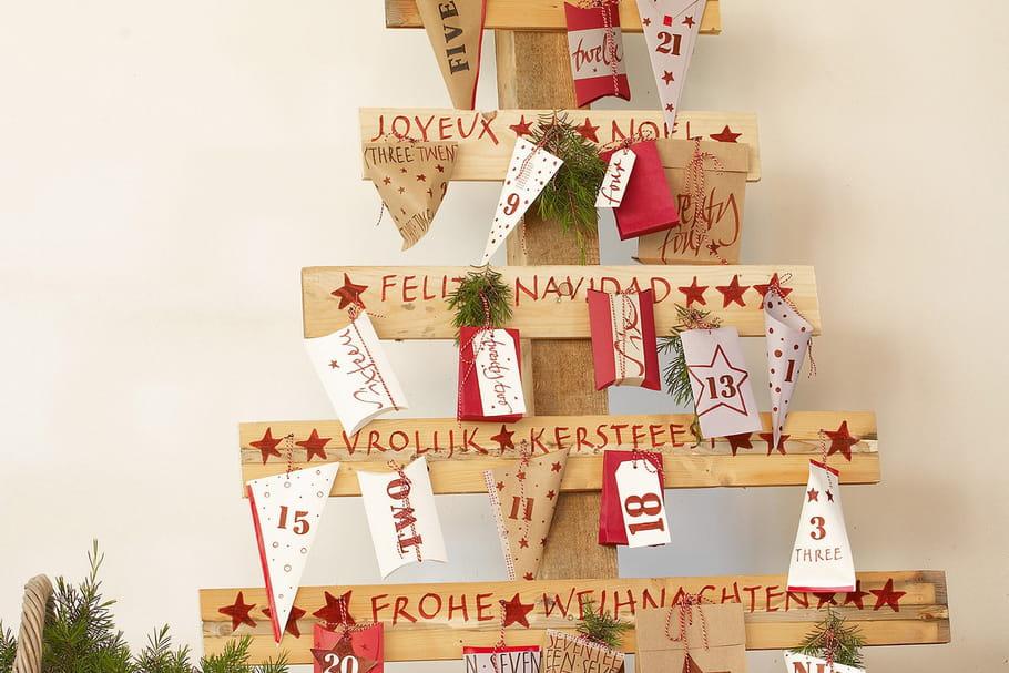 Un sapin de Noël en bois brut à faire soi même