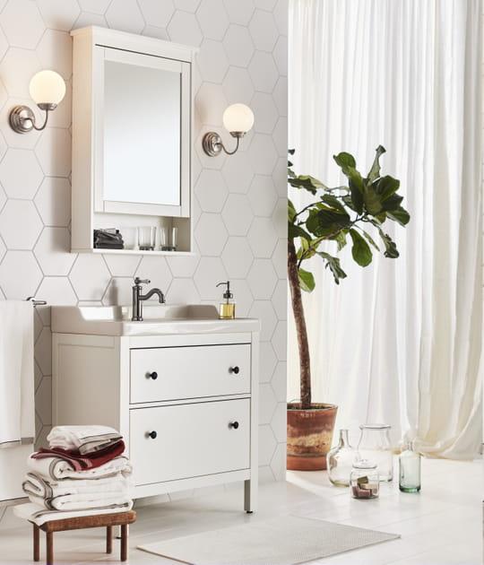 Meuble lavabo 2tiroirs Hemnes/Rättviken d'IKEA