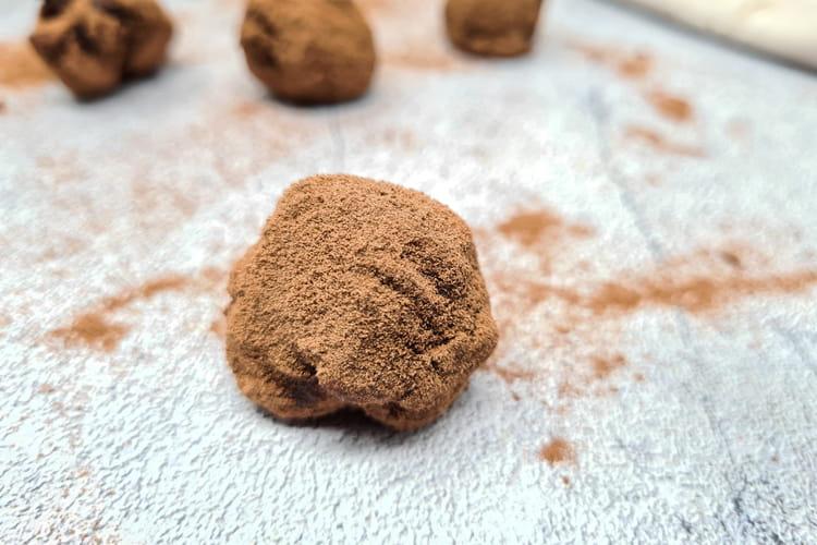 Truffes chocolat et éclats de noix