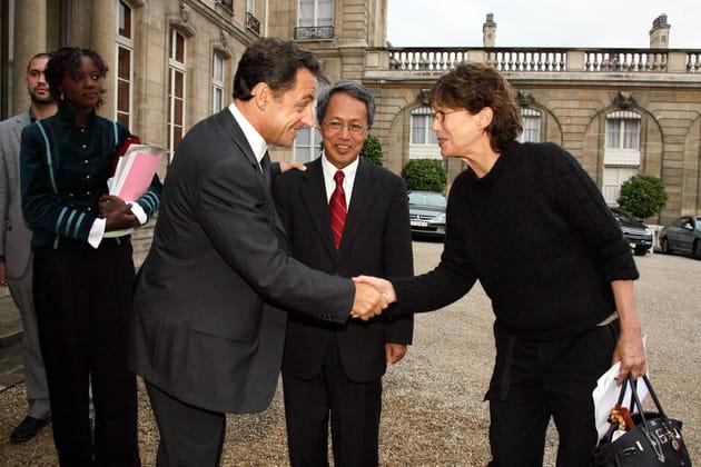 Reçue à l'Elysée par Nicolas Sarkozy, 2007