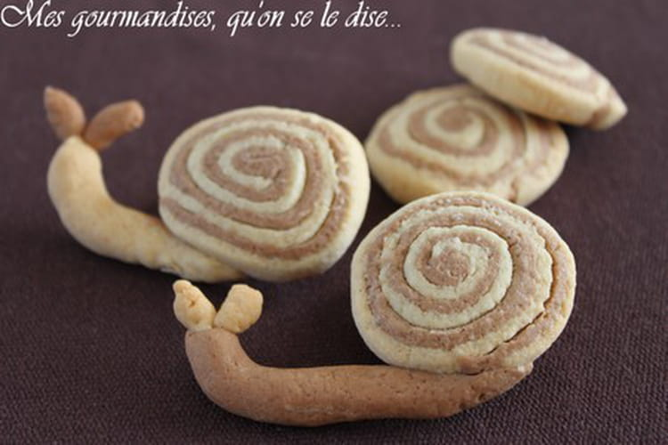 Biscuits sablés escargots