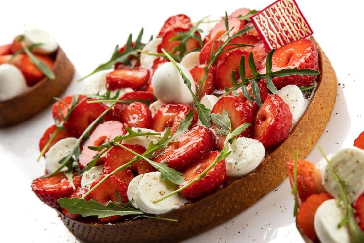 Tarte fraises tomates mozzarella