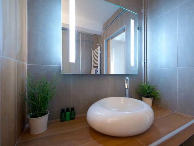 Une Salle De Bains Zen Et Chaleureuse - Salle de bains zen et chaleureuse