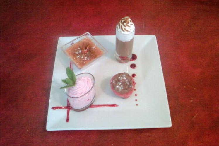 Duo gourmand framboise-chocolat