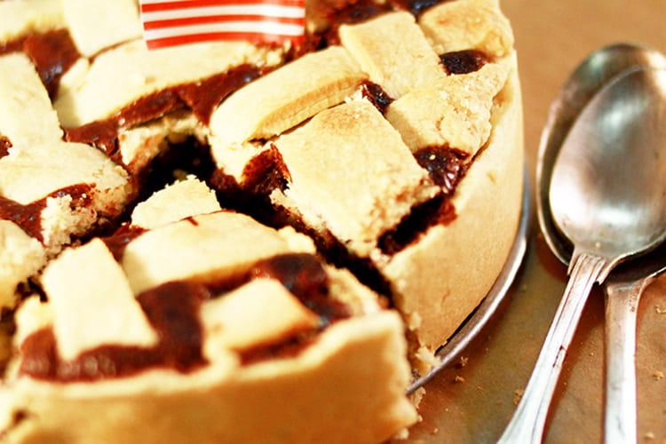 Pear chocolate pie