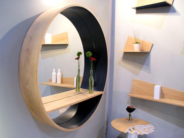 Miroir étagère de Drugeot Labo