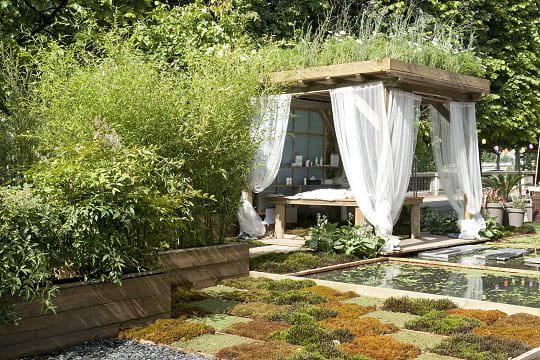 Une terrasse tr u00e8s v u00e9g u00e9tale
