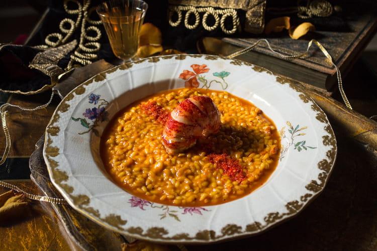 Risotto de homard alla milanese