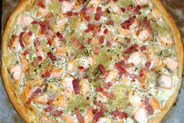 Tarte fine au saumon