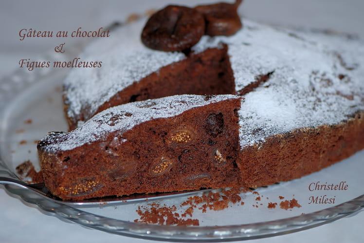 Gâteau au chocolat et figues moelleuses