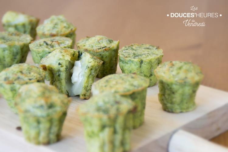 Mini muffins apéritifs aux herbes et coeur de chèvre