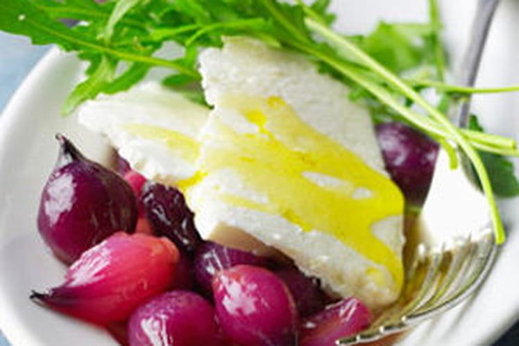 Salade de roquette et oignons rouges