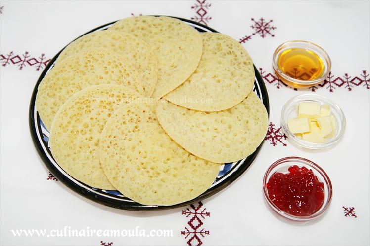 Crêpes aux mille trous marocaines