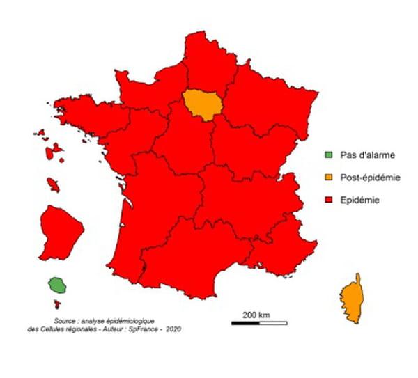 carte france epidemie grippe