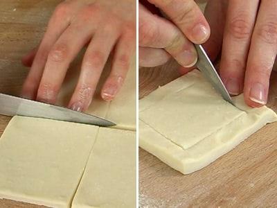 découper la pâte.