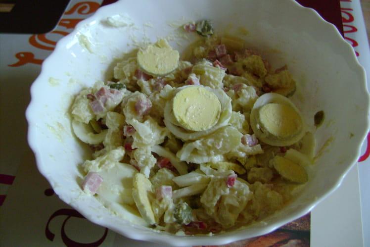 Salade piémontaise au poivron et gruyère