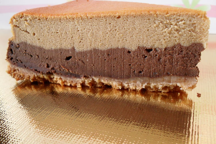 Cheesecake chocolat-café