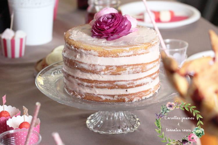 Naked cake fleur d'oranger et bigarreaux confits