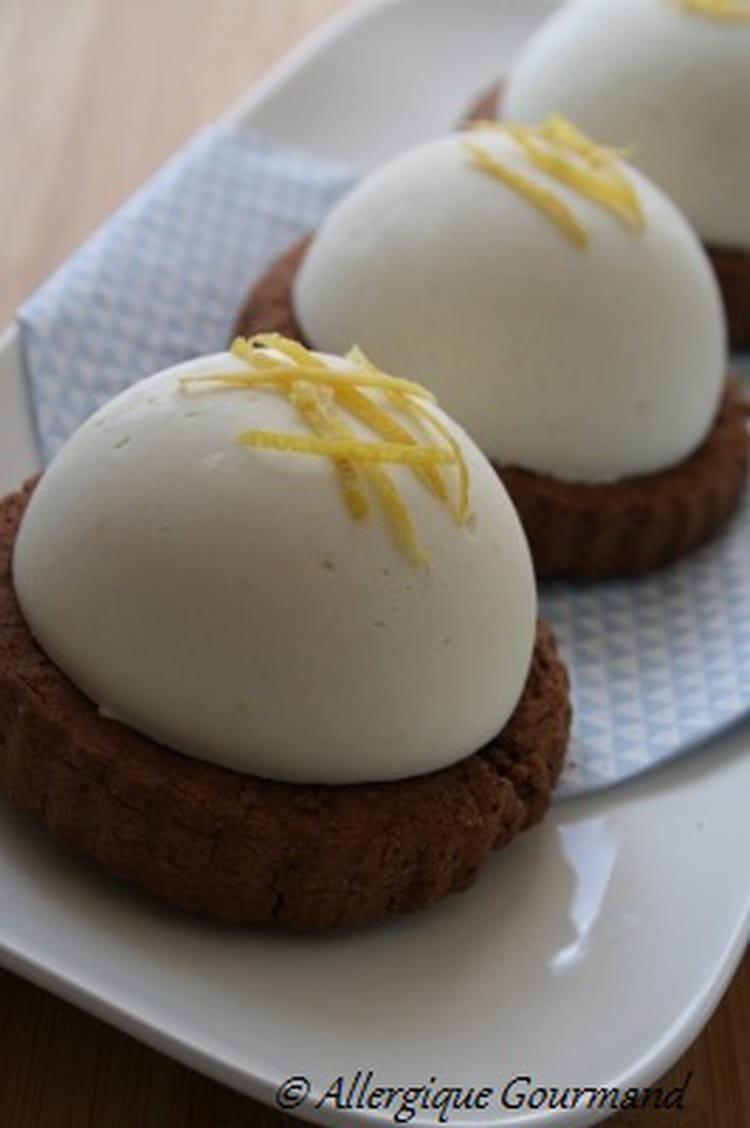 Recette de mousse de citron sur sabl au cacao bio sans oeufs ni gluten la recette facile - Cuisiner la veille pour le lendemain ...