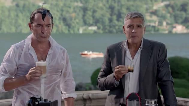 George Clooney et Jean Dujardin : un Nespresso, what else ?