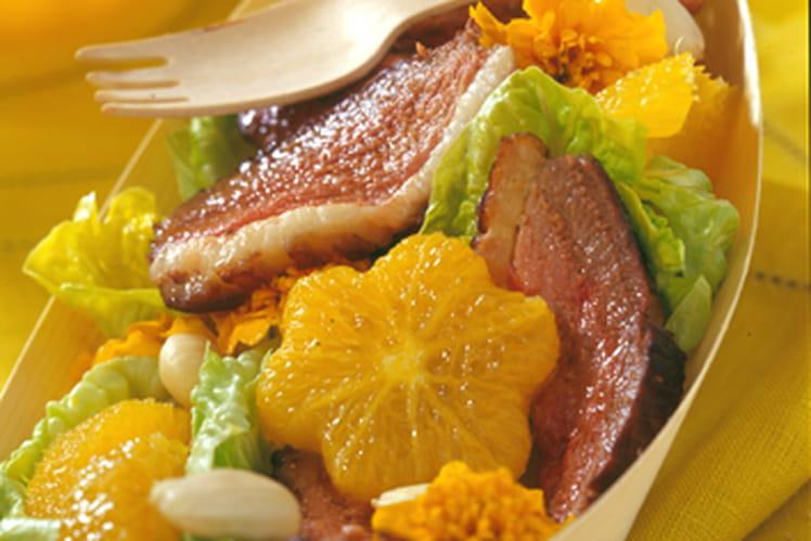 La coupelle fraîcheur salade - orange - Magret